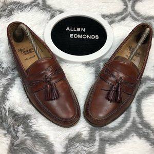 Allen Edmonds MAXFIELD Brown Tassel Loafers 10 C